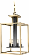 Z-Lite 456-4OBR-BRZ Quadra Contemporary Olde Brass + Bronze 13  Foyer Light Fixture