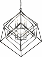 Z-Lite 457-10CH-MB Euclid Modern Chrome + Matte Black 41.5  Chandelier Light