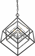 Z-Lite 457-3CH-MB Euclid Modern Chrome + Matte Black 23  Chandelier Lighting