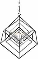 Z-Lite 457-4CH-MB Euclid Modern Chrome + Matte Black 29.5  Chandelier Lamp