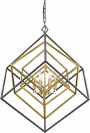 Z-Lite 457-4OBR-BRZ Euclid Contemporary Olde Brass + Bronze 29.5  Chandelier Light