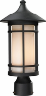 Z-Lite 527PHM-BK Woodland Black 16.625  Tall Outdoor Post Lighting