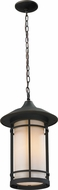 Z-Lite 528CHM-ORB Woodland Oil Rubbed Bronze 14.25 Tall Outdoor Hanging Pendant Lighting