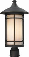 Z-Lite 528PHB-ORB Woodland Oil Rubbed Bronze 20.625  Tall Outdoor Lamp Post Light