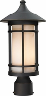 Z-Lite 528PHM-ORB Woodland Oil Rubbed Bronze 8.125  Wide Exterior Lighting Post Light