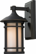 Z-Lite 528S-ORB Woodland Oil Rubbed Bronze 11.38  Tall Outdoor Wall Light Sconce