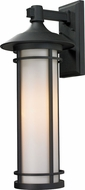 Z-Lite 529B-BK Woodland Black 10  Wide Exterior Wall Lighting Fixture