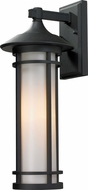 Z-Lite 529M-BK Woodland Black 20.25  Tall Outdoor Wall Light Sconce