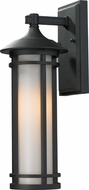 Z-Lite 529S-BK Woodland Black 6  Wide Exterior Wall Sconce Light