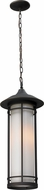 Z-Lite 530CHM-ORB Woodland Oil Rubbed Bronze 19.875 Tall Outdoor Drop Lighting