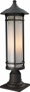 Z-Lite 530PHM-533PM-ORB Woodland Oil Rubbed Bronze 24  Tall Outdoor Pier Mount