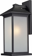 Z-Lite 547B-BK Vienna Black 9.5  Wide Exterior Sconce Lighting