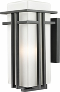 Z-Lite 549B-BK Abbey Black 17  Tall Outdoor Wall Sconce Lighting