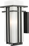 Z-Lite 550M-ORBZ Abbey Oil Rubbed Bronze 14.63 Tall Outdoor Wall Sconce Lighting