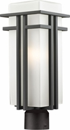 Z-Lite 550PHB-ORBZ-R Abbey Oil Rubbed Bronze 19.625 Tall Outdoor Post Light Fixture