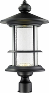 Z-Lite 552PHBR-BK-LED Genesis Black Clear Seedy LED Exterior Post Light