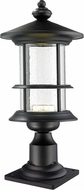 Z-Lite 552PHMR-533PM-BK-LED Genesis Black Clear Seedy LED Outdoor Post Lighting Fixture
