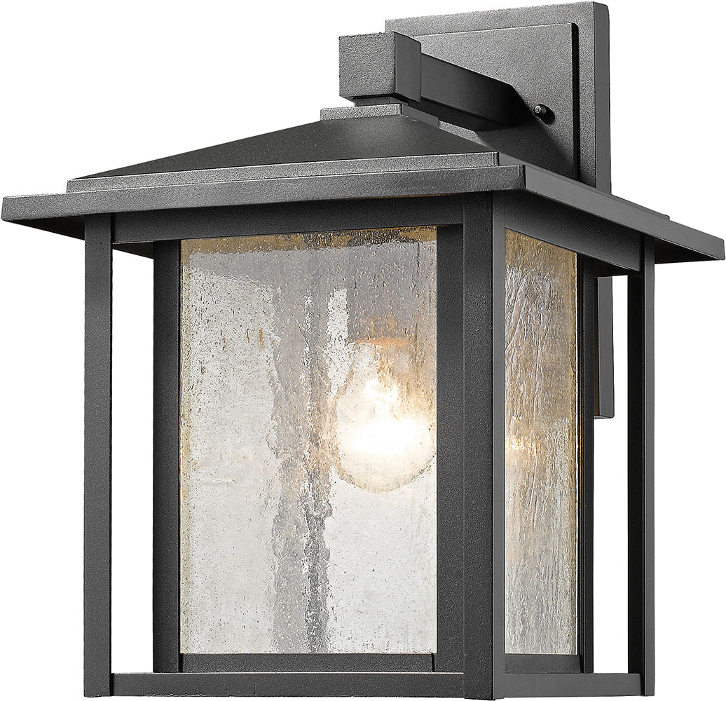 Tech Lighting Aspen: Z-Lite 554B-BK Aspen Black Outdoor Lighting Wall Sconce
