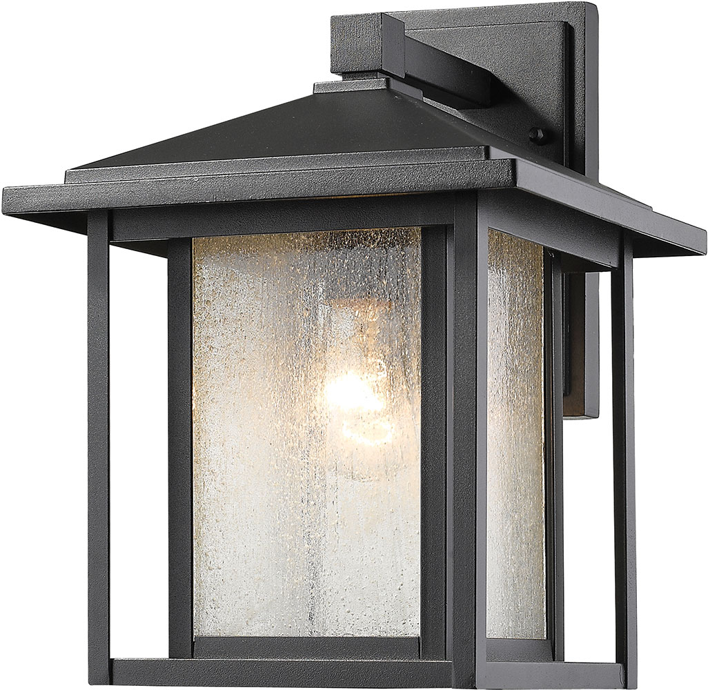Outdoor Wall Sconces Black : Z-Lite 554M-BK Aspen Black Outdoor Wall Sconce Lighting - ZLT-554M-BK