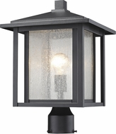 Z-Lite 554PHB-BK Aspen Black Exterior Post Light