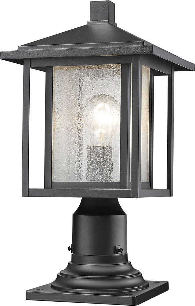 Z-Lite 554PHM-533PM-BK Aspen Black Exterior Lamp Post Light ...
