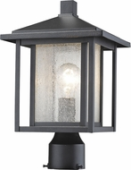 Z-Lite 554PHM-BK Aspen black Exterior Pole Lighting Fixture