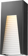 Z-Lite 561M-BK-SL-FRB-LED Millenial Contemporary Black Silver LED Exterior Lighting Wall Sconce