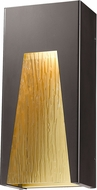 Z-Lite 561M-DBZ-GD-CSL-LED Millenial Contemporary Bronze Gold LED Exterior Wall Sconce Lighting