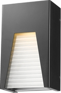 Z-Lite 561S-BK-SL-FRB-LED Millenial Contemporary Black Silver LED Exterior Wall Sconce