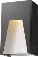 Z-Lite 561S-BK-SL-SDY-LED Millenial Modern Black Silver LED Outdoor Wall Lamp