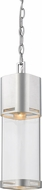 Z-Lite 562CHB-BA-LED Lestat Contemporary Brushed Aluminum LED Exterior Mini Pendant Lamp