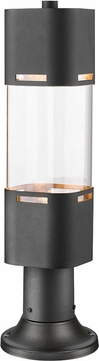 Z-Lite 562PHBR-553PM-BK-LED Lestat Modern Black LED Outdoor Post Mount w/ Pier Mount