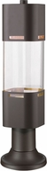Z-Lite 562PHBR-553PM-DBZ-LE Lestat Contemporary Deep Bronze LED Exterior Post Mount w/ Pier Mount