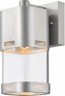Z-Lite 562S-BA-LED Lestat Contemporary Brushed Aluminum LED Exterior Wall Light Sconce
