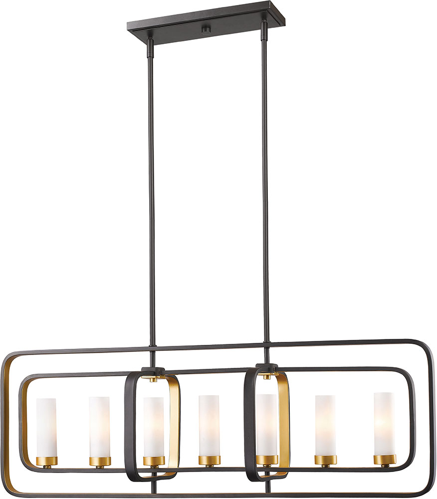 Z-Lite 6000-7L-BZGD Aideen Modern Bronze Gold Island Lighting. Loading zoom  sc 1 st  Affordable L&s & Z-Lite 6000-7L-BZGD Aideen Modern Bronze Gold Island Lighting ... azcodes.com