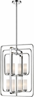 Z-Lite 6000-8B-CH Aideen Contemporary Chrome Foyer Light Fixture