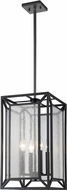 Z-Lite 6005-4BRZ Braum Modern Bronze 10.5  Foyer Lighting
