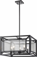 Z-Lite 6005-5BRZ Braum Contemporary Bronze Pendant Light Fixture