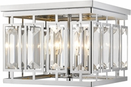 Z-Lite 6006F-CH Mersesse Chrome Flush Mount Light Fixture
