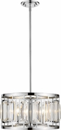 Z-Lite 6007-15CH Mersesse Chrome 15  Drum Drop Lighting Fixture