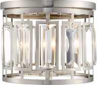 Z-Lite 6007F-BN Mersesse Brushed Nickel Flush Mount Lighting Fixture