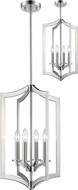Z-Lite 6008-4BN Zander Contemporary Brushed Nickel Foyer Lighting