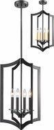 Z-Lite 6008-4BRZ Zander Modern Bronze Foyer Light Fixture