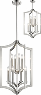 Z-Lite 6008-8BN Zander Contemporary Brushed Nickel Foyer Lighting Fixture