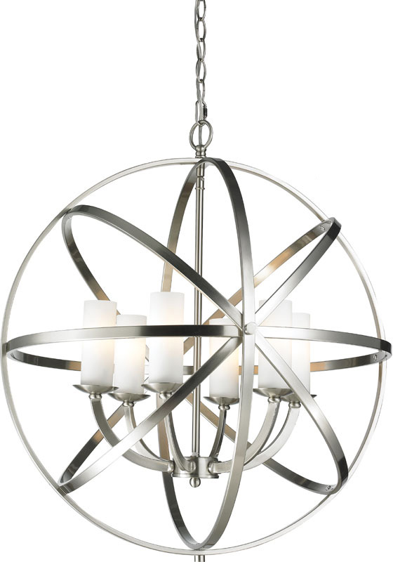 Z Lite Bn Aranya Brushed Nickel Pendant Light Fixture