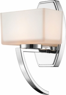 Z-Lite 614-1SCH Cardine Chrome Matte Opal Halogen Wall Lighting