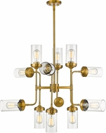 Z-Lite 617-12FB Calliope Contemporary Foundry Brass 36  Chandelier Light