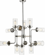 Z-Lite 617-12PN Calliope Modern Polished Nickel 36  Chandelier Lighting