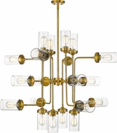 Z-Lite 617-20FB Calliope Contemporary Foundry Brass 42  Lighting Chandelier
