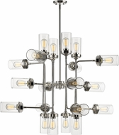 Z-Lite 617-20PN Calliope Modern Polished Nickel 42  Chandelier Lamp